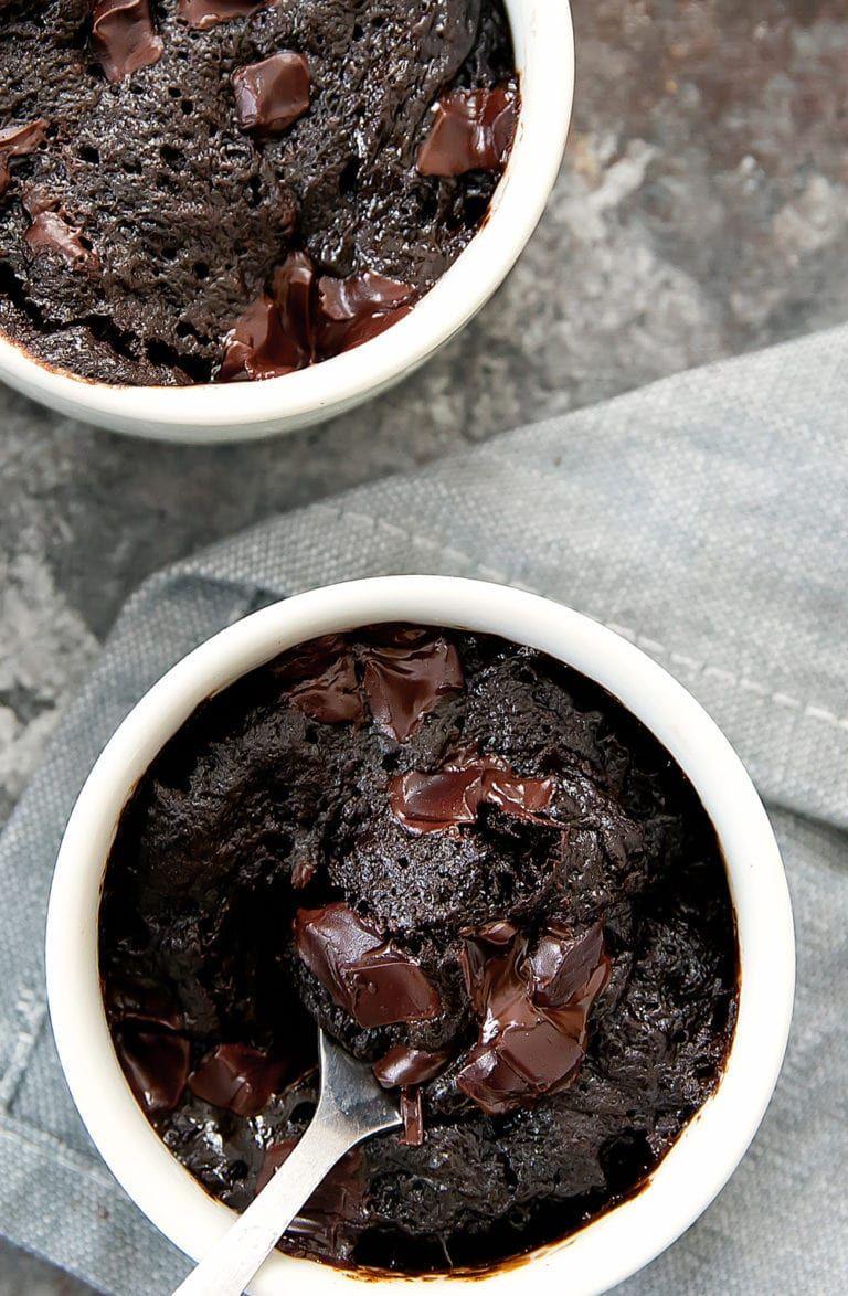 3 ingredient flourless nutella brownie mug cake recipe