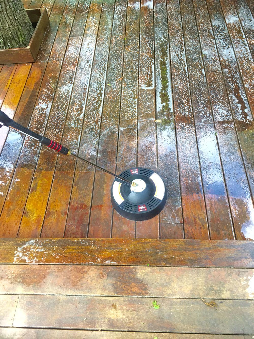 IPE decking - pressure washing attachment