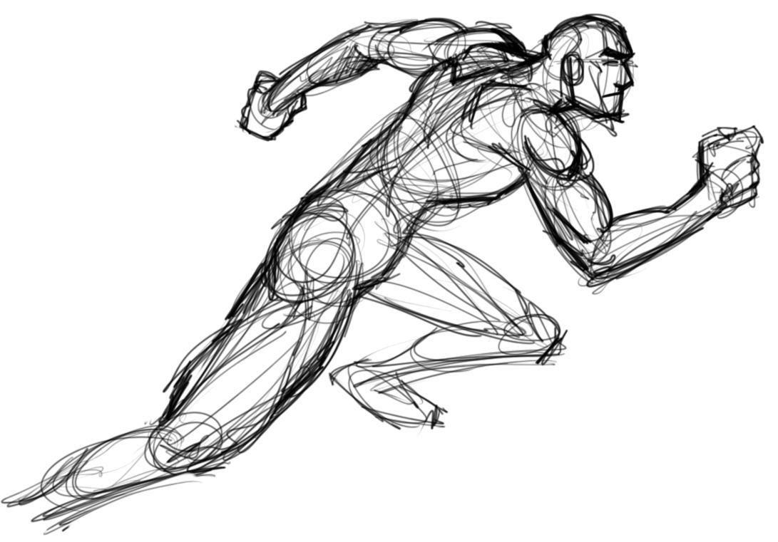 Http Sharplead Com Uploads Running Man Action Sketch 330c56d93 Jpg Running Pose Running Drawing Drawing People