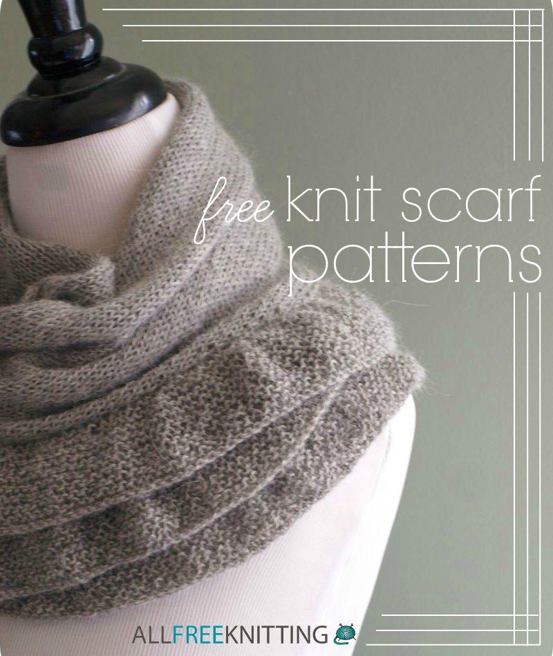 26 Free Knit Scarf Patterns Pinterest Knit Scarf Patterns Scarf