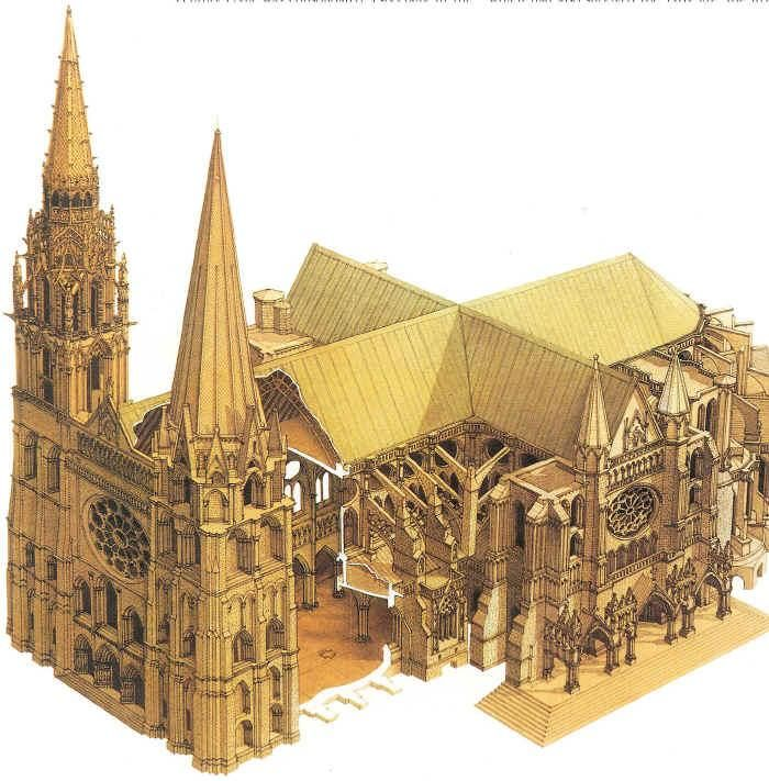 Dame Cathedral Floor Plan Gothic Architecture Notre Dame