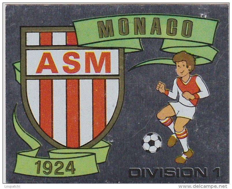Panini football 1982 1 image ecusson as monaco num ro d - Ecusson monaco ...