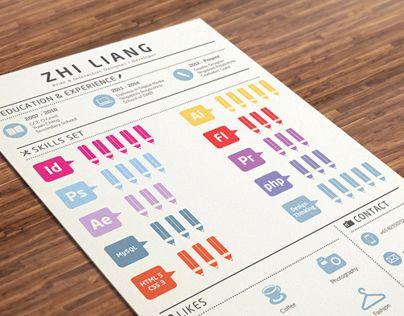 다음 @Behance 프로젝트 확인: \u201cInfographic Resume\u201d https://www.behance.net/gallery/6745371/Infographic-Resume
