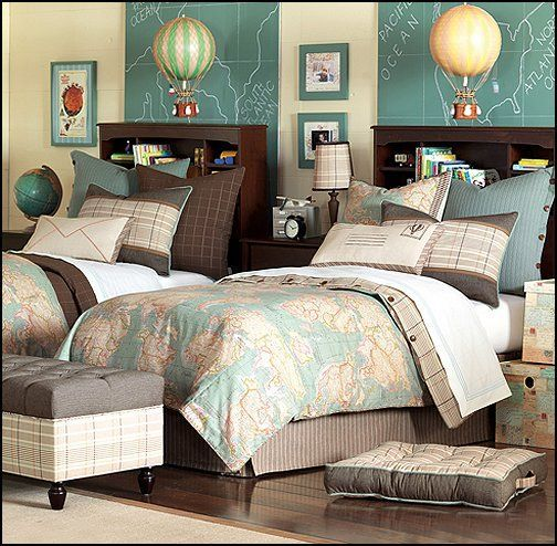 Love This Map/travel Themed Room! Found It At Wayfair   Eastern Accents Kai  Hand Tacked Bedding Collection