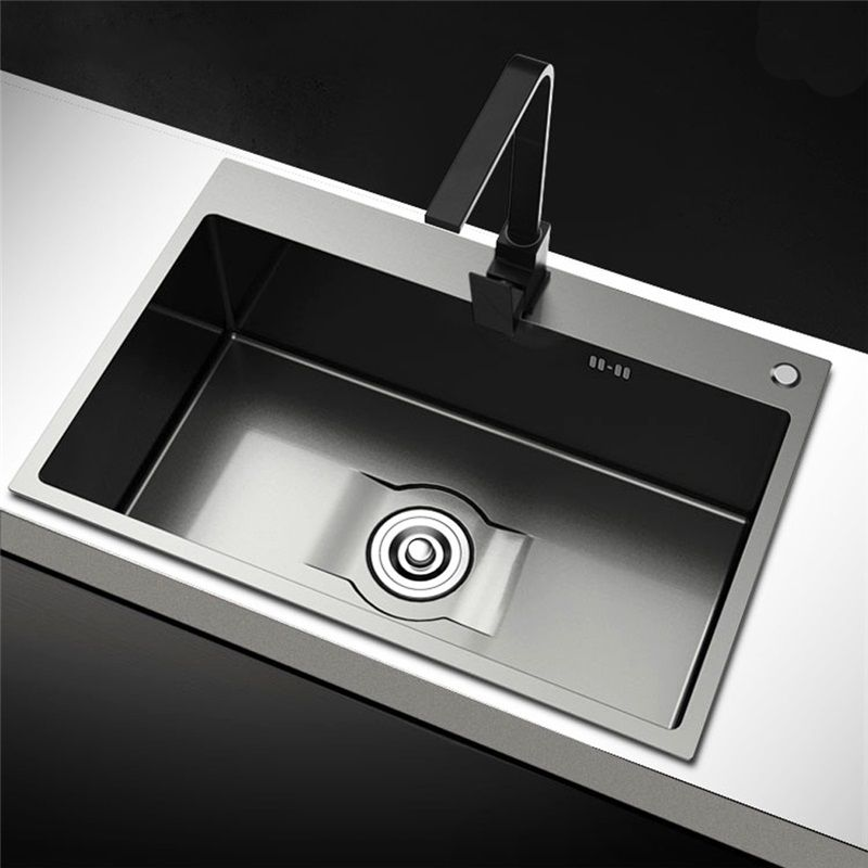 évier En Acier Inoxydable 201 Noir Nano évier Simple Pour Cuisine Sink Kitchen Sink Sinks Kitchen Stainless