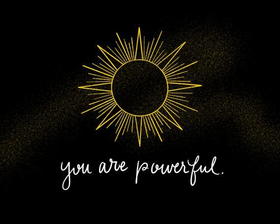 You Are Powerful, Positive Affirmation, Art Print, Wall Art, 8x10