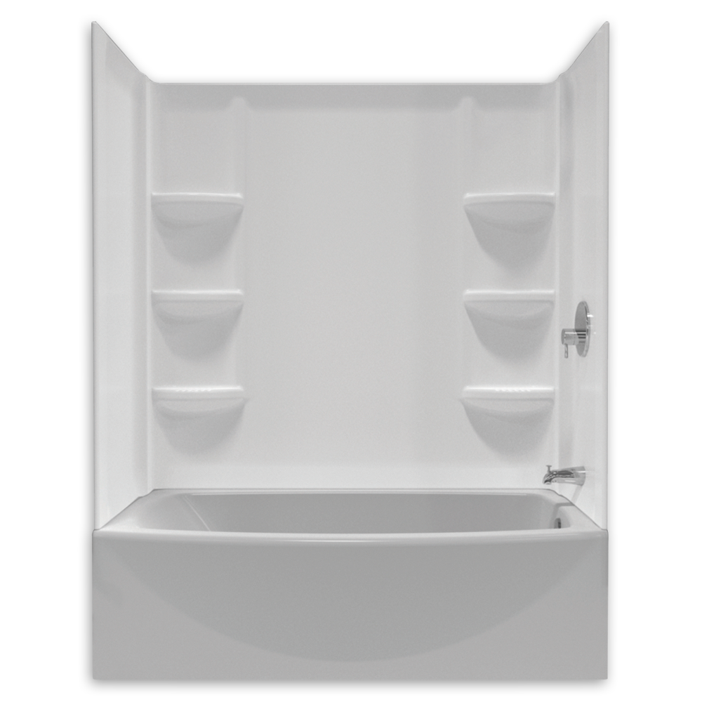 American Standard Saver 60 Tub Wall Set Shown In 011 Tub Shower Combo Shower Tub Bathtub Inserts