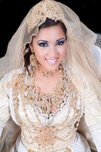 bridal Takchita takchita leya takchita blanche et doree