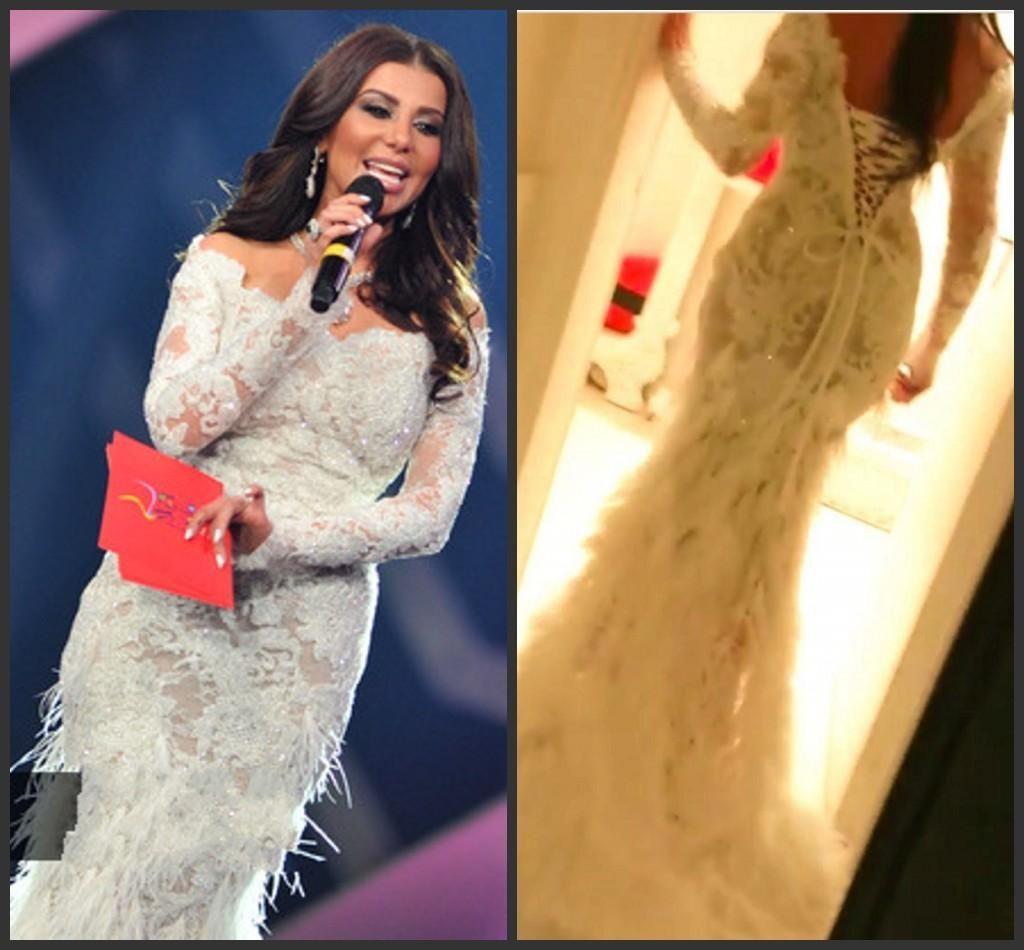 arabic dubai dresses evening wear long sleeves lace applique