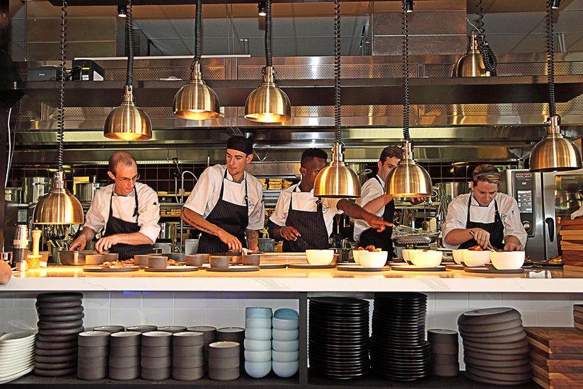 Social Cafe Exclusive Books Google Search Restaurant Kitchen Design Open Kitchen Restaurant Restaurant Kitchen
