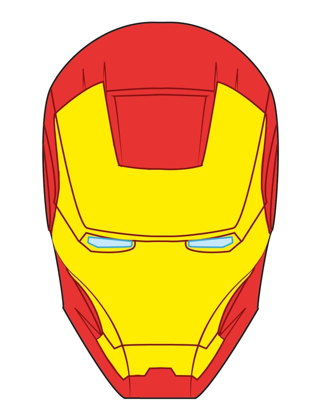 iron man face template