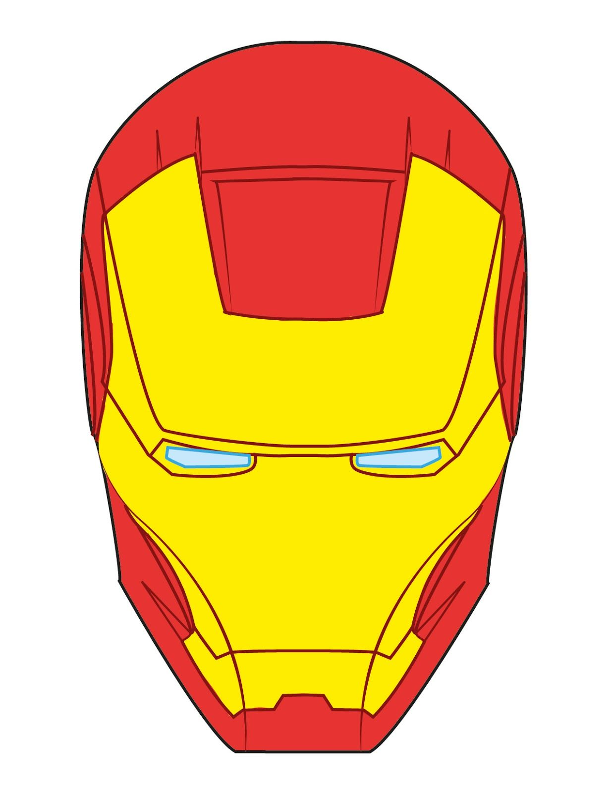 Iron Man Face Template For Cake Iron Man Face Cake Pin It Iron
