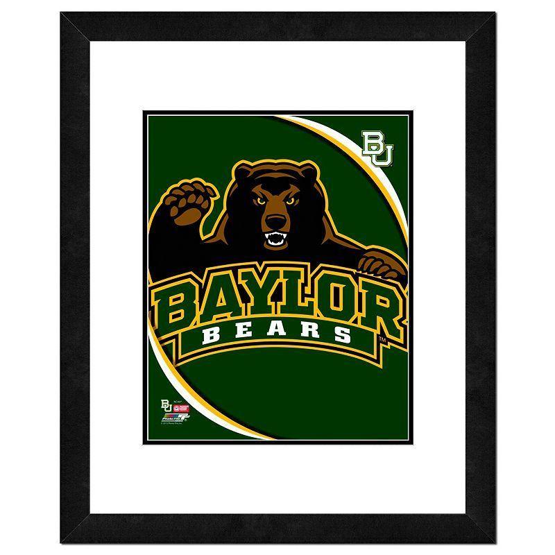 """Baylor Bears Team Logo Framed 11"""" x 14"""" Photo, Multicolor"""