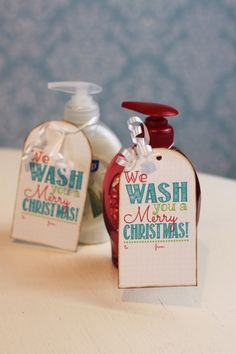 picture regarding We Wash You a Merry Christmas Free Printable identified as Xmas Reward Tags With No cost Printables reward recommendations