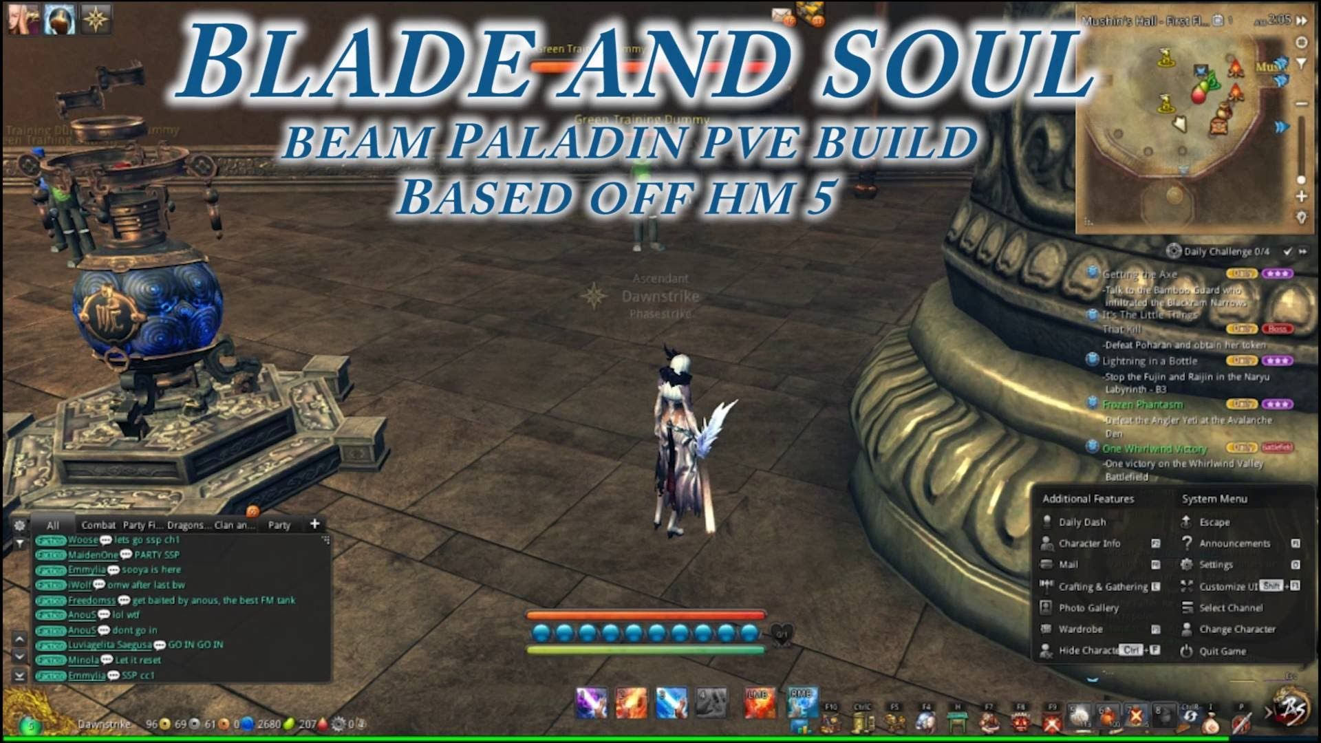 Blade And Soul Forcemaster Beam Paladin Build With Images