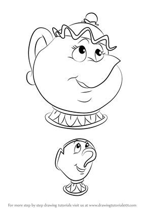 Learn How To Draw Chip Potts From Beauty And The Beast Beauty And