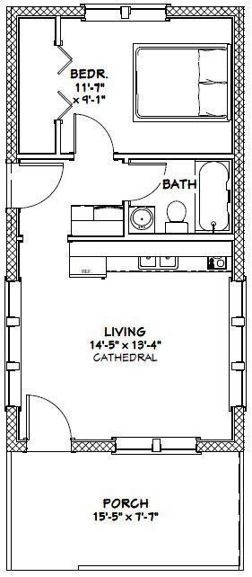 16x30 Tiny House 16x30h13 480 Sq Ft Excellent Floor Plans With Images Tiny House Floor Plans Tiny House Plans House Floor Plans