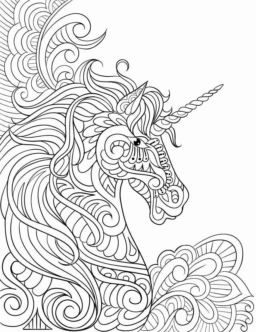 Unicorn Hard Mandala Coloring Pages - Bowstomatch