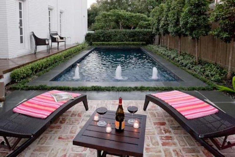 Small Backyard Swimming Pool Fountain Ideas By Amy.