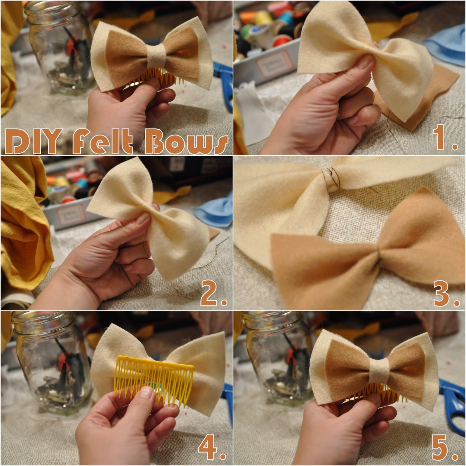 DIY Fabric Hair Bows
