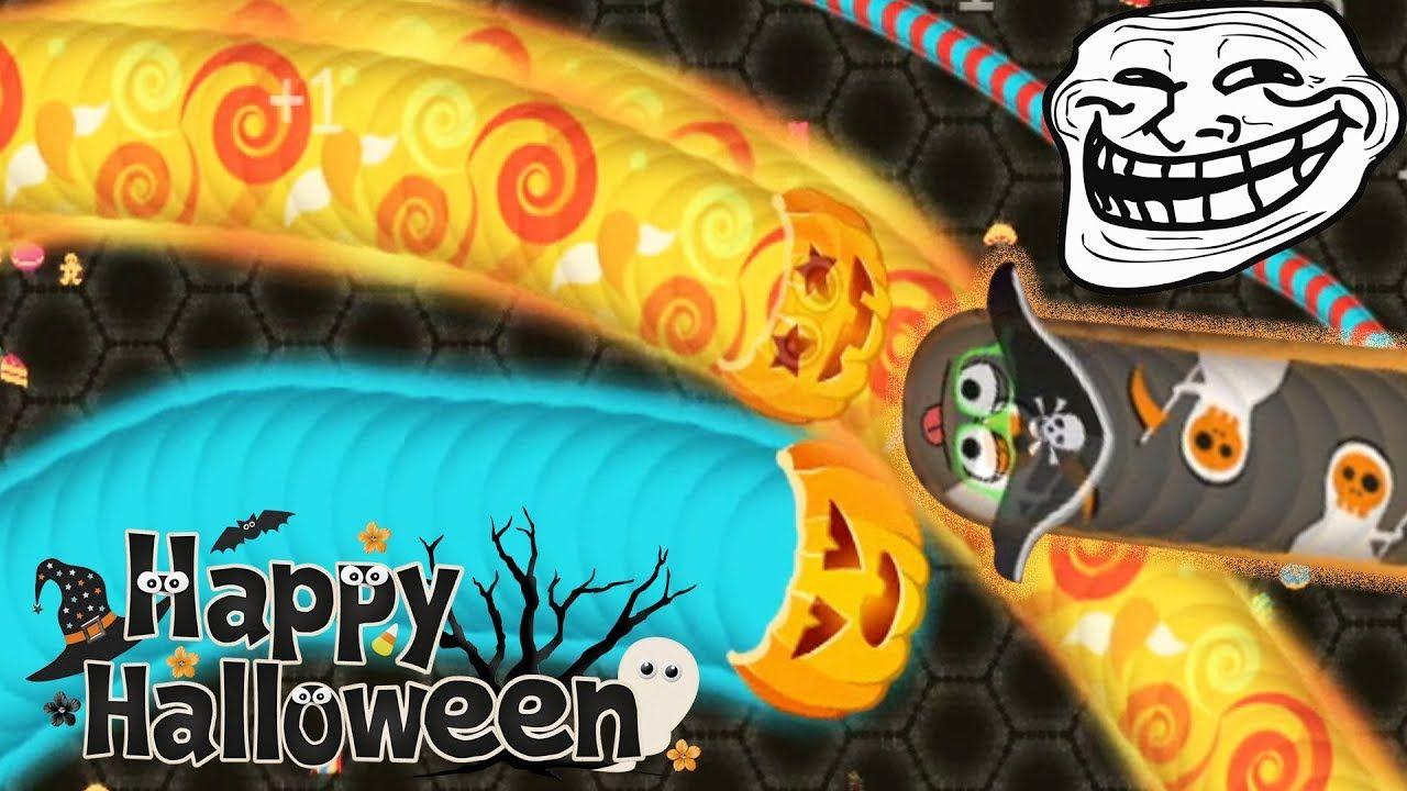 Wormate.io 1,173,489 SCORE Halloween Skins Update