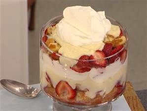 Easy dessert using frozen waffles, courtesy of Martha Stewart. Waffle strawberry trifle -- a perfect humpday fix!
