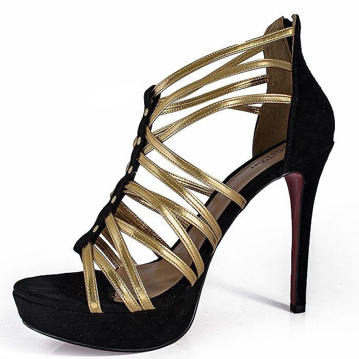436207c26a53 Sandalia Sapato Show 7417615 7417615 - Preto - Sapatos Femininos,  Sandálias, Peep Toes, Calçados em Numeração Especial - Sapato Show