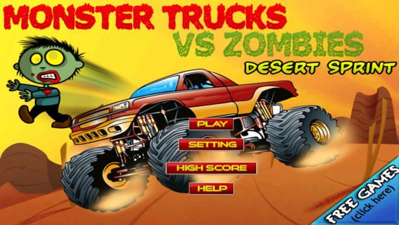 Monster Trucks Smash Zombies Desert Sprint on the App