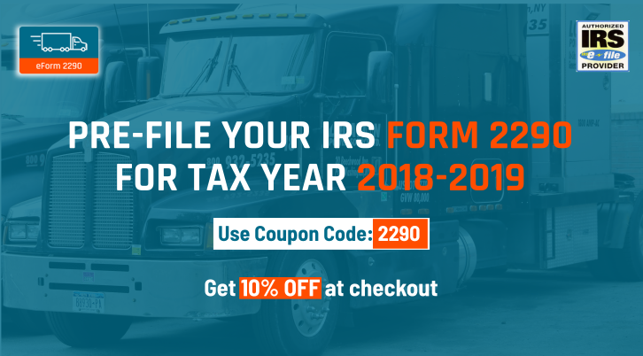 2290 form fee  IRS Heavy Vehicle Use Tax | eForm13 Coupons | Irs forms ...
