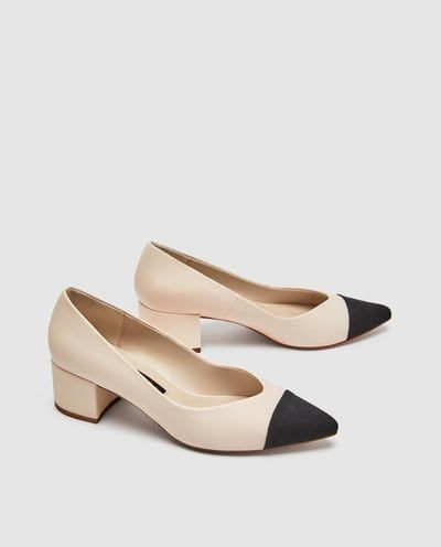 POINTED MID-HEEL COURT SHOES-High-heels-SHOES-WOMAN