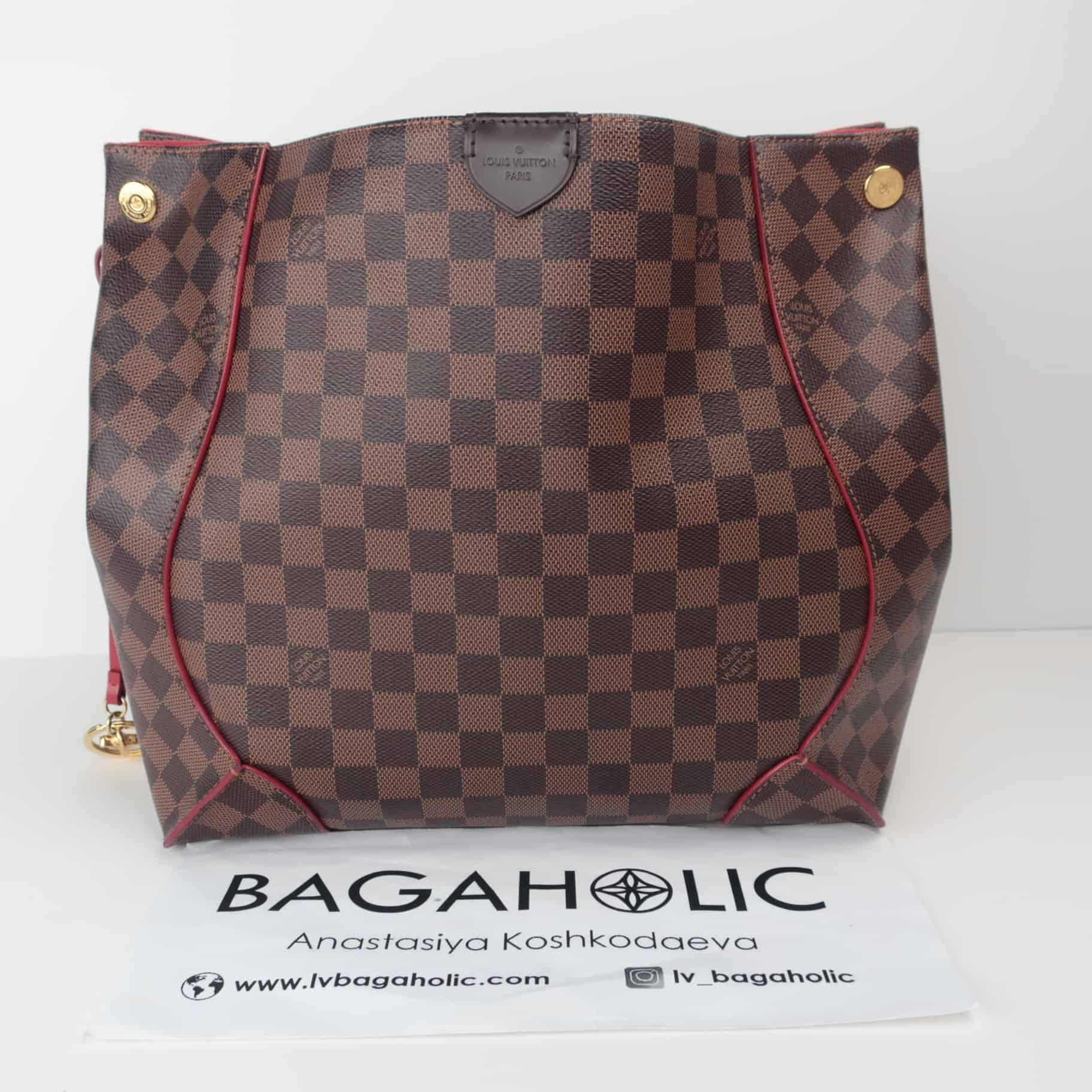 74d63e08ead6 Louis Vuitton Caissa Hobo Damier Ebene Red bag - Reetzy