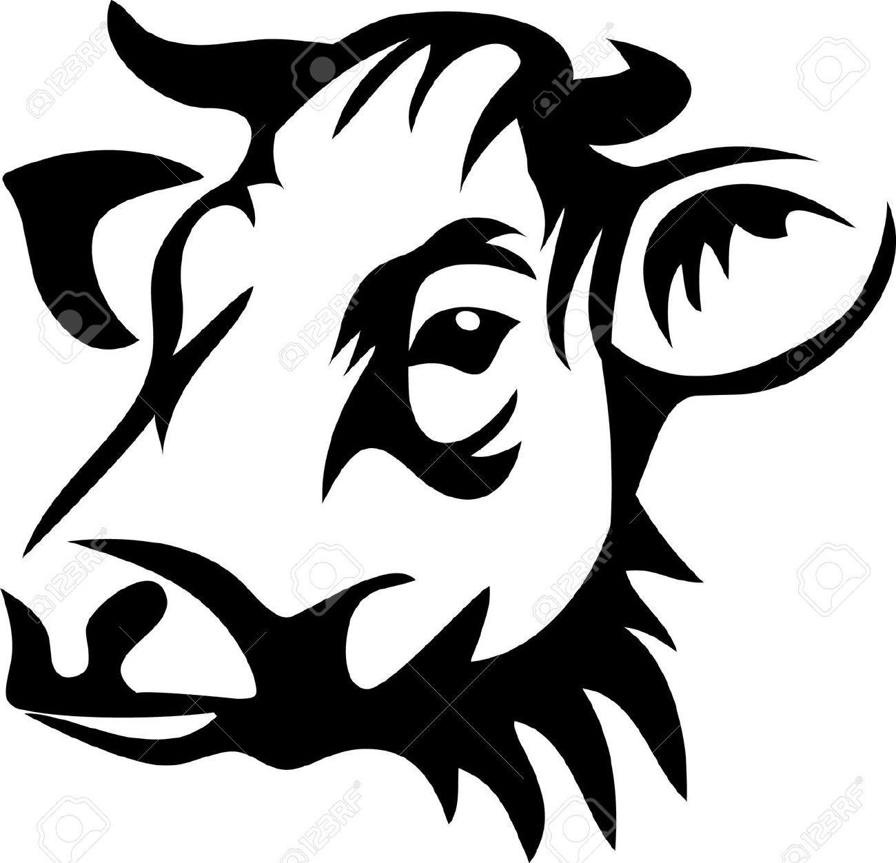 17511247-head-of-horned-cow-Stock-Vector-beef.jpg (1300 ...