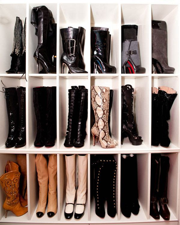 shoe organization Organizing ideas Pinterest Boot organization