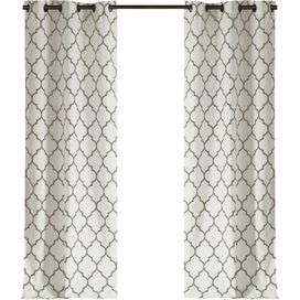 Kayla Curtain Panel in Feather Gray