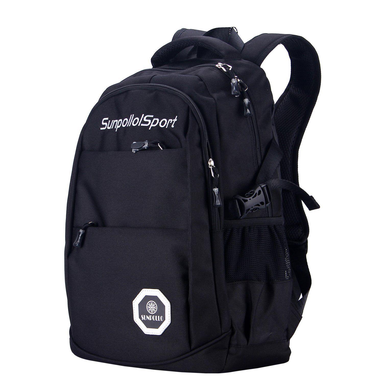 sunpollo school bag multi pocket casual backpack book bag for boys