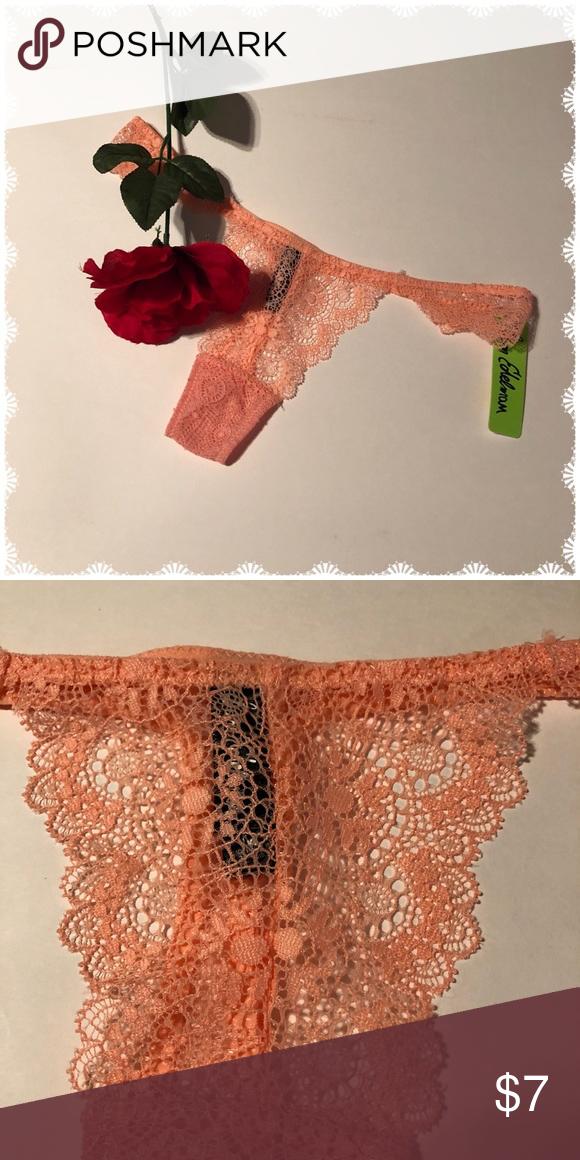 59004197c2cf0 Sam Edelman Thong Peach lace tho g by Sam Edelman. 90% Nylon 10% Spandex.  NWOT Size M Sam Edelman Intimates   Sleepwear Panties