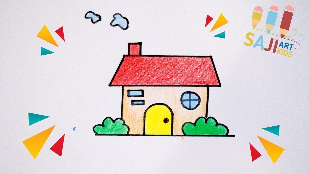 วาดร ปบ านน าร กๆ วาดร ประบายส ไม สวยๆ How To Draw A Cute House Easy