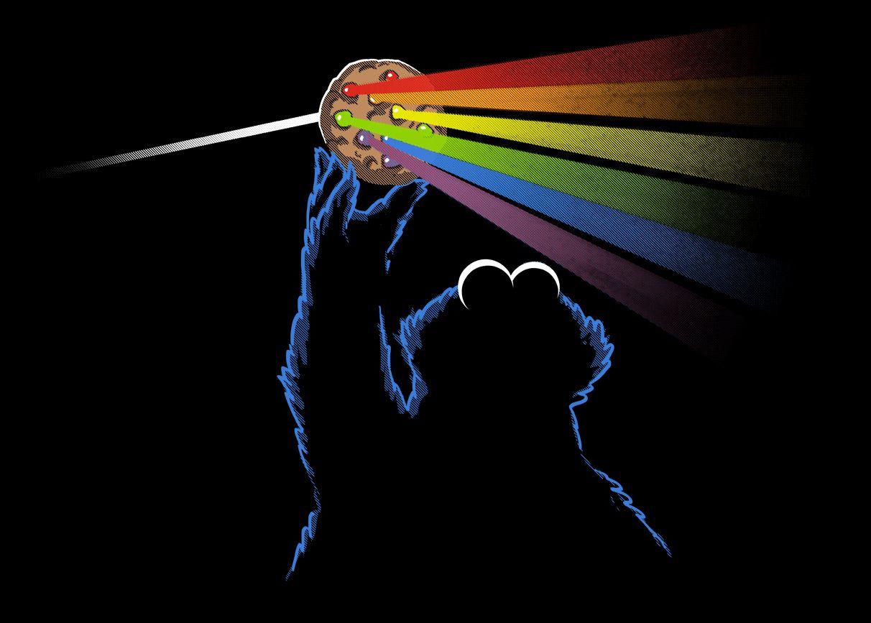 The Dark Side By Silvia Zinanni Cookie Monster Wallpaper Pink Floyd Dark Side Monster Cookies
