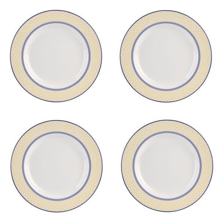 Spode - 'Giallo' Collection, Earthenware - Dinner Plates, s/4