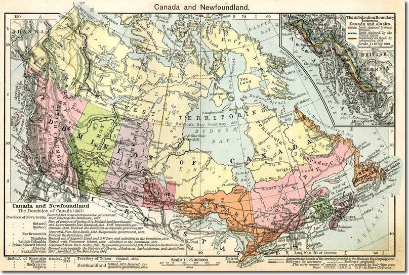 Federation of Canada Map 1867   CANADA   Pinterest Federation of Canada Map 1867