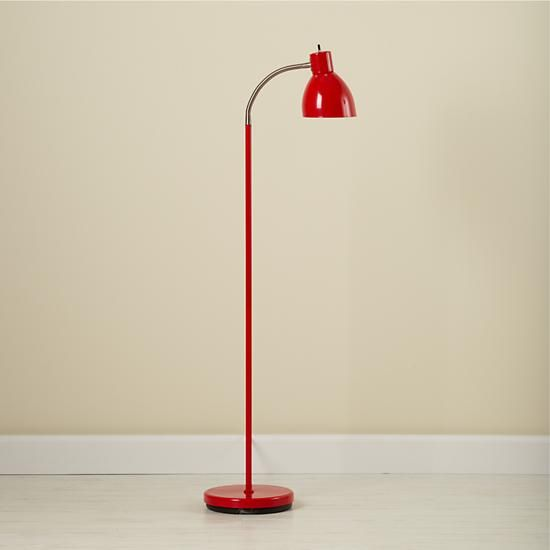 Merveilleux The Land Of Nod | Kidsu0027 Floor Lamps: Kids Red Floor Lamp With Adjustable  Arm In Floor Lamps
