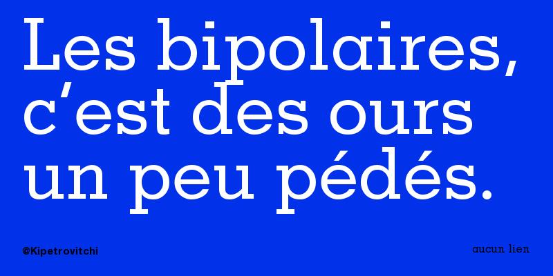 Gratuit bipolaire datant