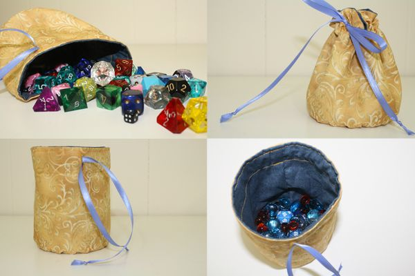 DIY Lined Dice Bags | Make | Pinterest | Rounding, Bag and Craft
