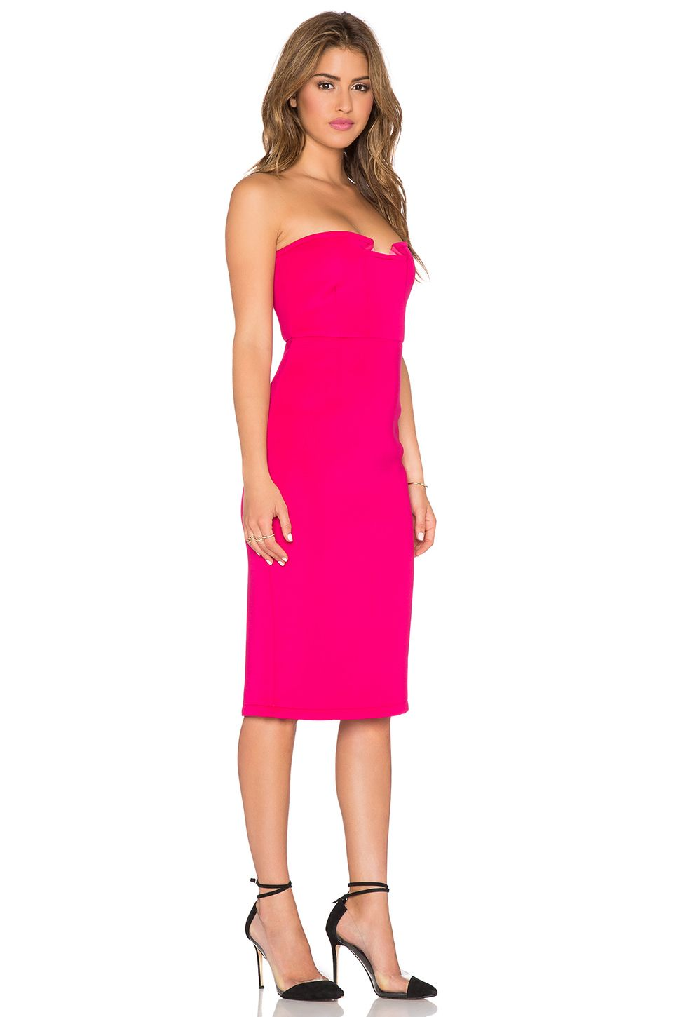 Lumier Night After Night Strapless Dress in Hot Pink & Candy Pink ...