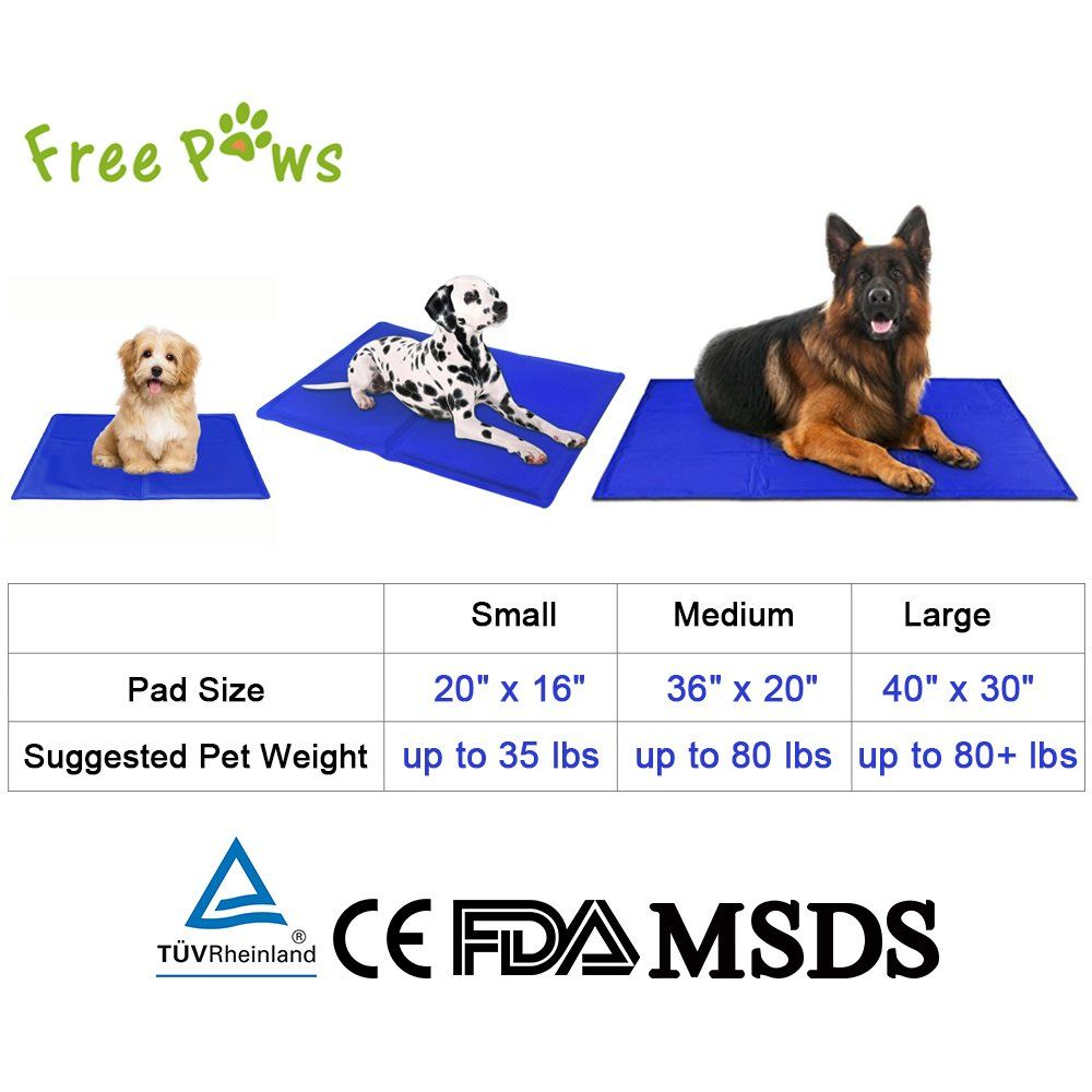 Free Paws Cooling Mat Cooling Pad S M L Available Comfort Cooler