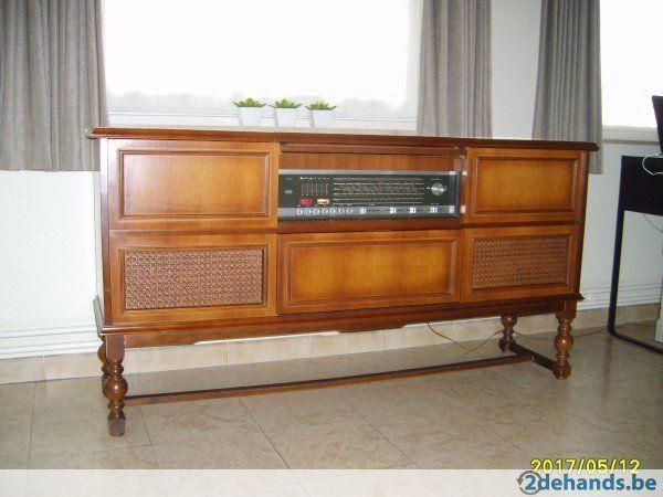Tv Radio Meubel : Oud radiomeubel grundig oude radio s
