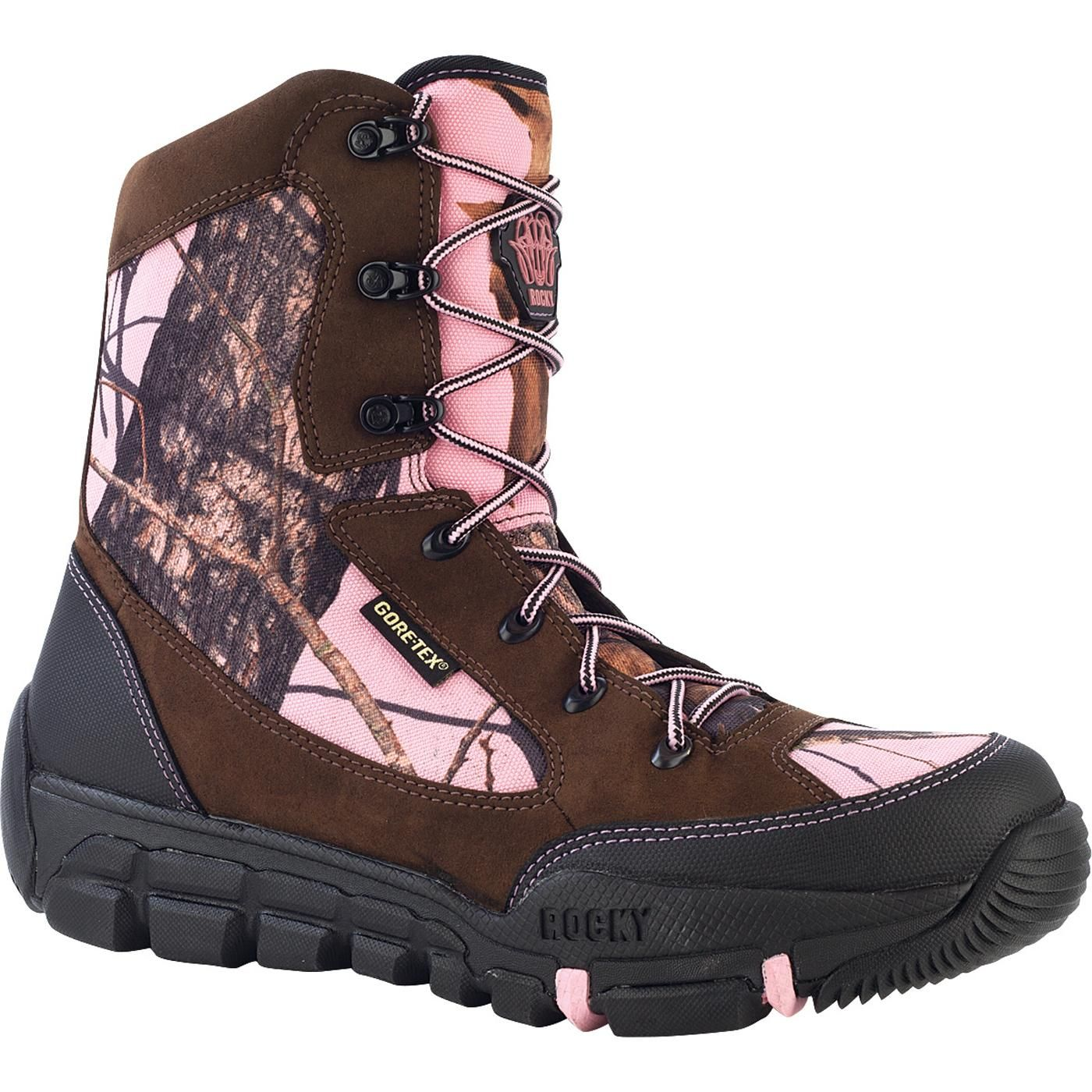 rocky athletic mobility s pink camo boot outdoor