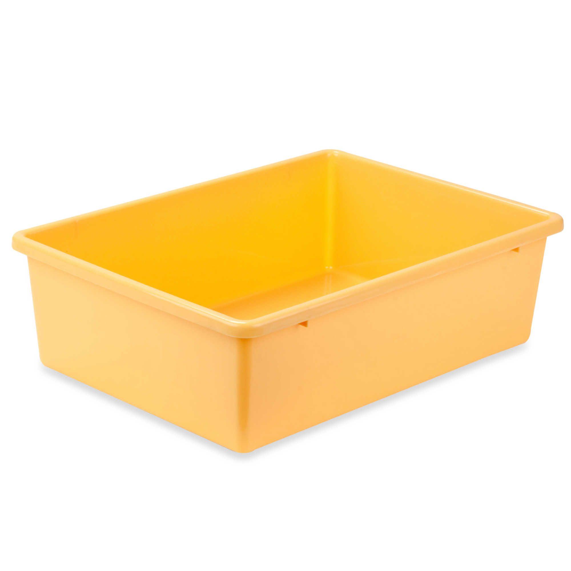 Honeycando large plastic storage bin in yellow