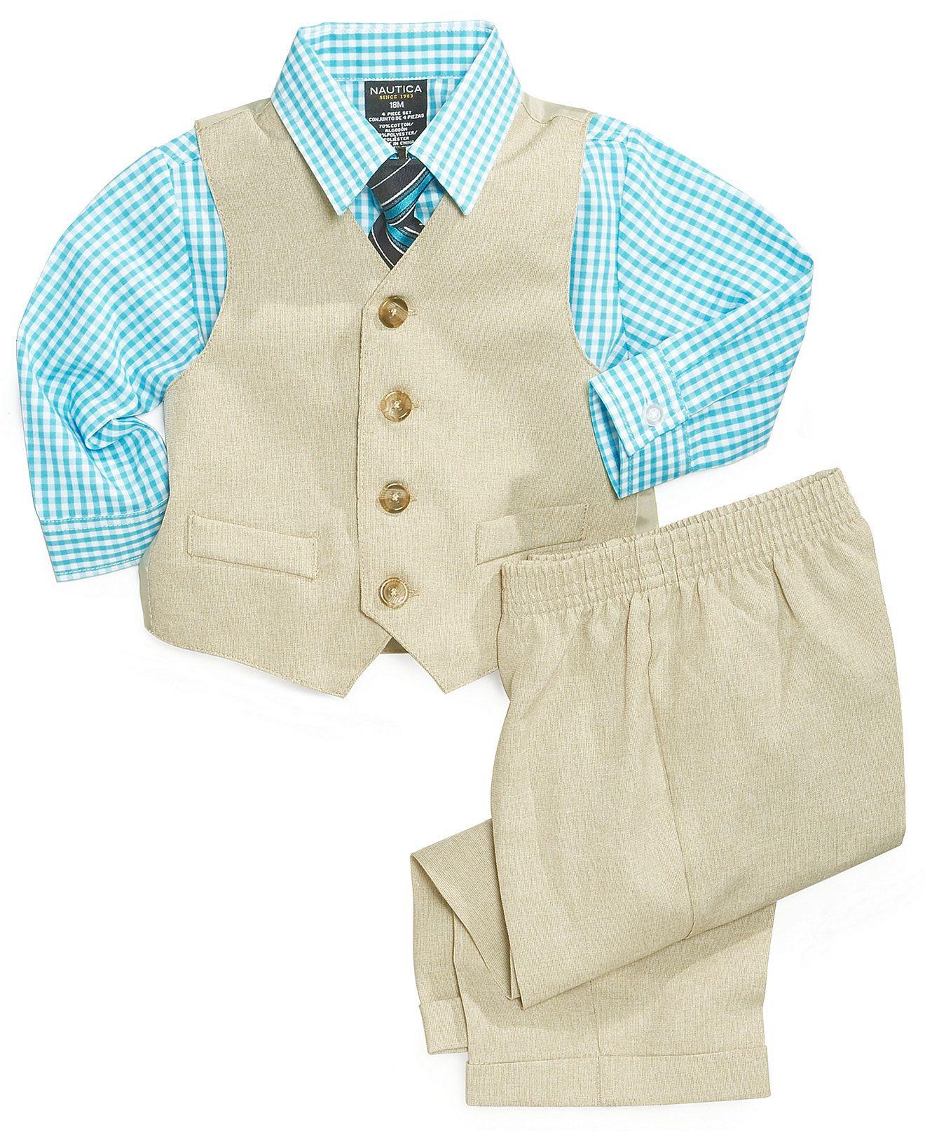 20ba8d70bed1 Nautica Baby Boys  4-Piece Suit Set - Kids Suits   Dress Shirts ...