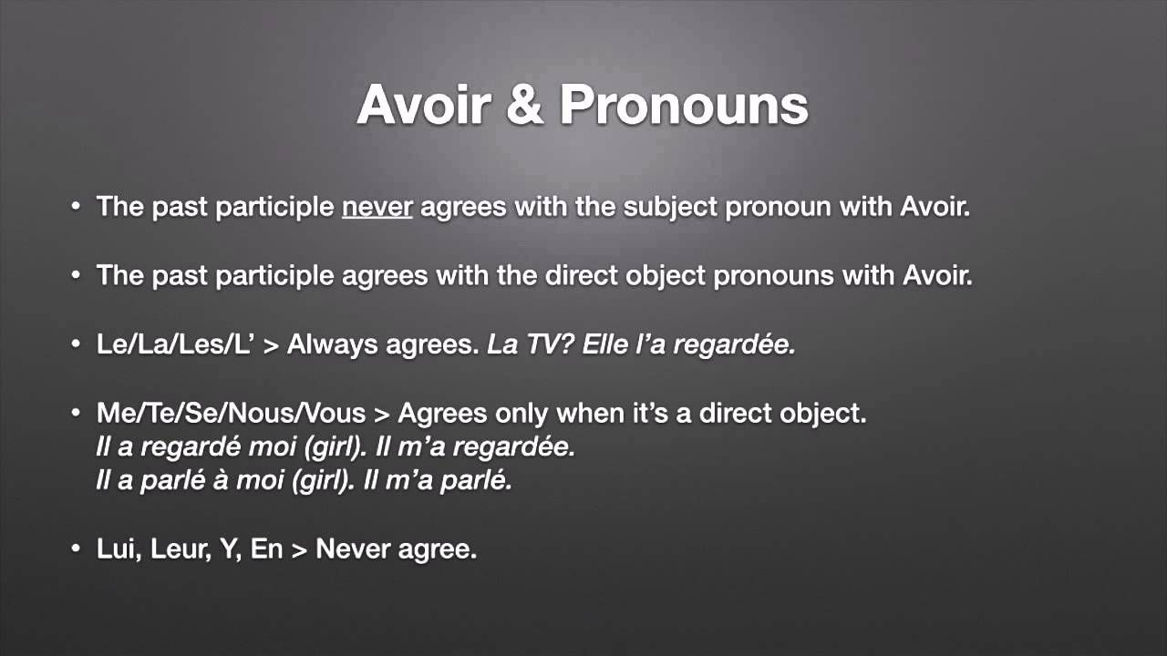 Direct Object Pronouns In The Passe Compose Object Pronouns Directions French Teacher [ 720 x 1280 Pixel ]
